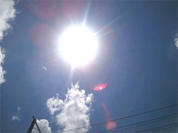 炎天下太陽